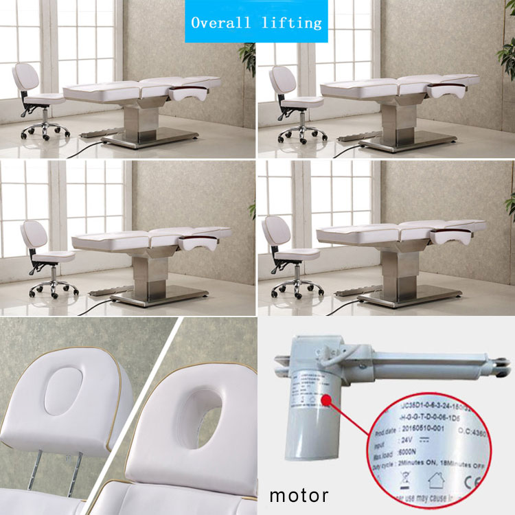 Portable White Electric Beauty Facial Bed Medical Treatment Chair Spa Chair