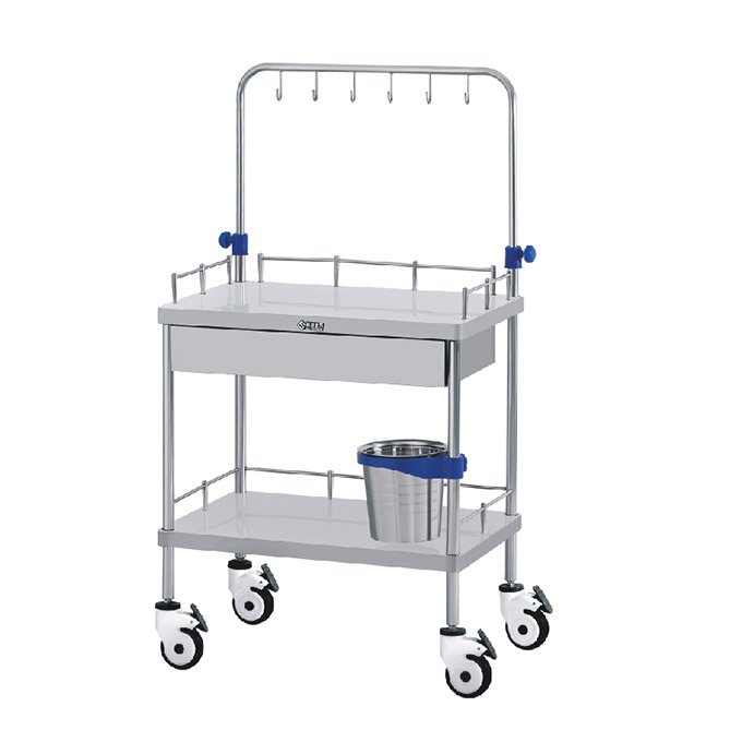 Trolley Infusion Cart stainless steel