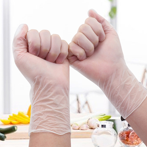 Disposable PVC Gloves Food Grade Transparent Powder-free Protective Gloves Removable Tattoo Using Gloves