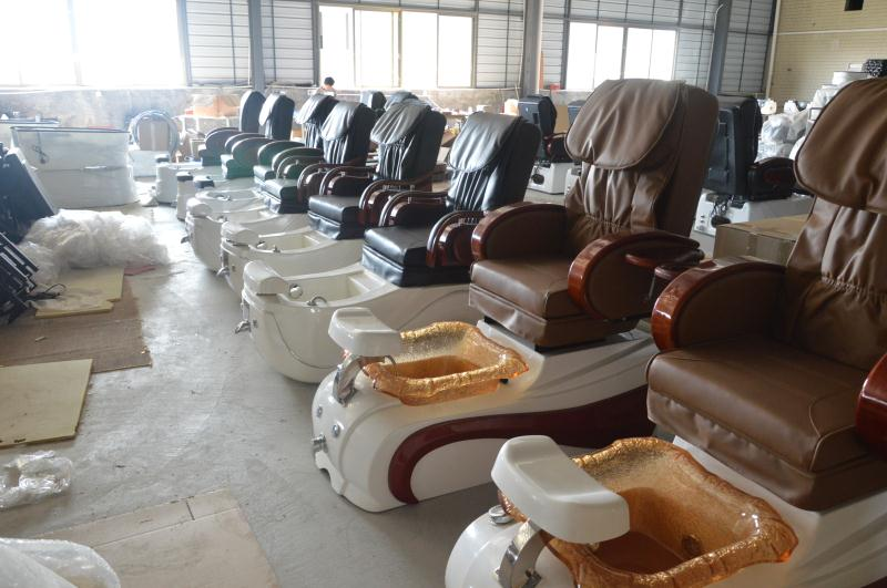 Beauty bed pedicure chairs production line